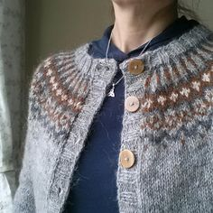 Ravelry: Project Gallery for Gamaldags pattern by Hélène Magnússon Cardigan Design, Fair Isle Knitting Patterns, Textiles, Wool Sweaters, Knitting Projects, Color Combinations, Knitwear, Knit Crochet, Give It To Me