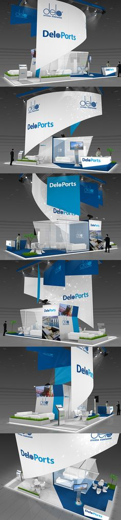 DeloPorts exhibition stand on Behance