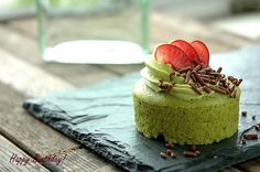 mini green tea cheesecake