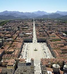 Arial view of Cuneo, Piemonte.