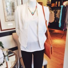 white blazer: classic and chic ~ pairs well with jeans, shorts, or dresses #blazers #classicstyle #arynk #springstyle