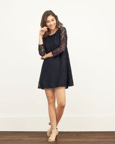 Womens Lace Peasant Dress