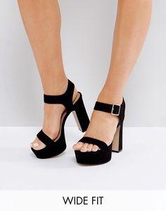 388bf64485d ASOS HARRISON Wide Fit Platform Sandals at asos.com