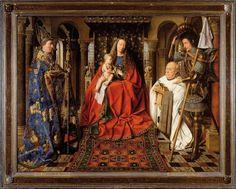 Jan Van Eyck - 1434 -Virgin and Child with Canon van der Paele (Groeningemuseum, Bruges)