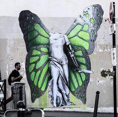Nuovo pezzo realizzato dallo street artist francese Ludo a Parigi.