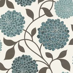 K2 tahiti wallpaper lime chocolate 96315 floral coloured wallpaper from wilkinson plus in - Teal wallpaper wilkinsons ...