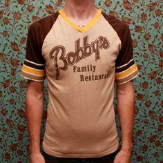 Bobby's Family Restaurant jersey by RomancingTheGhost on Etsy, $13.36