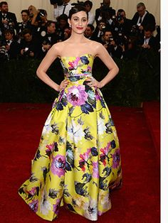 Met Ball 2014: Company's Best Dressed! Emmy Rossum is a vision in florals!