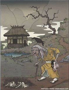 Yama uba are the old hags and witches of the Japanese mountains and forests. Description from yokai.com. I searched for this on bing.com/images