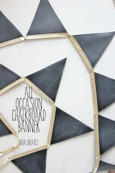 chalkboard banner.