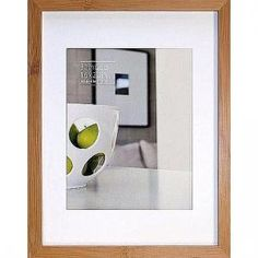 CONTEMPORARY Bamboo Natural-stain matted 16x20/11x14 frame by EcoCare® picture frames photo albums and gifts