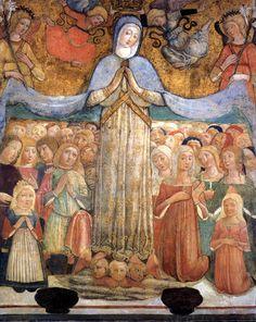 Benvenuto di Giovanni - Madonna della Misericordia - 1481 - affresco staccato - Fondazione Monte dei Paschi, Siena