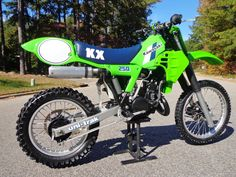 1984 Kawasaki KX250.  I have no idea what the folks at Kawasaki were thinking with the rear fender/number plate design.  I know that a lot of those fenders would get so loaded with mud that they would break from the weight when landing from a big jump.  Fortunately, they only lasted with that design for a year or two.  Talk about UGLY!