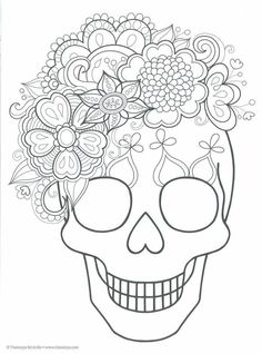Elephant Coloring Page, Skull Coloring Pages, Coloring Book Art, Colouring Pages, African Drawings, Sugar Skull Artwork, October Crafts, Star Tattoo Designs, Halloween Crafts For Toddlers