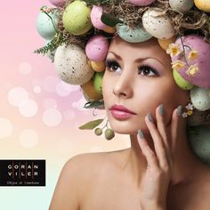 Pasqua alla Goran Viler Hair SPA di Trieste - https://www.facebook.com/GoranVilerHairSpa #Easter #eggs #hair #style