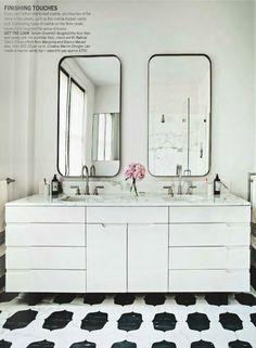 Tile, mirrors
