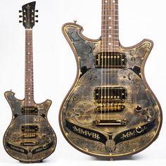 wildone chronograph irontop brasstop relic aged by wild custom guitars