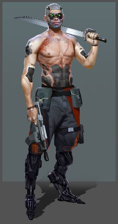 Coole Cyberpunk-Charakter-Konzeptkunst, Inspiration & Design What's Example? Most useful Illustration Examples of the Year Cyberpunk 2077, Arte Cyberpunk, Character Portraits, Character Art, Science Fiction, Arte Ninja, Gato Anime, Game Art, Sci Fi Characters