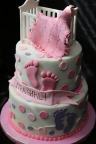 Crib topper cake