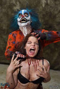 Clown Kill Slice n Dice 2 - Horrify Me, horror photography and portraits of…
