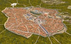 Representation of Athens as it would have been after Hadrian's large construction project. There are a few mistakes, such as the rendering of the hills around the Acropolis, and the distribution of the houses, but public buildings are accurately pictured. Ancient Rome, Ancient Greece, Ancient History, Macedonia, 3d Reconstruction, History Of Wine, Roman City, Classical Antiquity, Historical Architecture