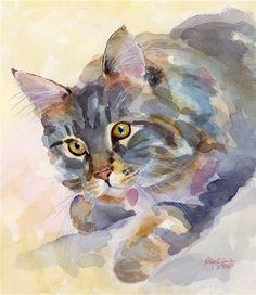 "Daily+Paintworks+-+""Mouse+Alert""+-+Original+Fine+Art+for+Sale+-+©+Pamela+Gatens"