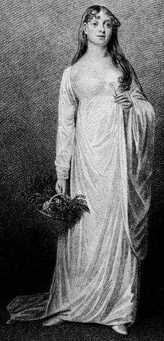 Mary Catherine Bolton as Ophelia in William Shakespeare's Hamlet in 1813