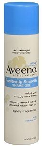 2. Aveeno Positively Smooth Shave Gel