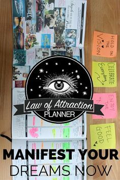 The perfect gift for yourself to start 2016! Download your free law of attraction planner: https://manifestationplanner.com/clickpop-pinter  All in one planner that will help you master the secret behind the law of attraction. Follow 8 simple proven steps to manifest your dreams.