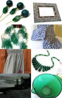Surrender Dorothy! treasury featuring handmade green malachite necklace by Ooh-la-la Beadtique