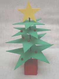 foam star christmas tree craft