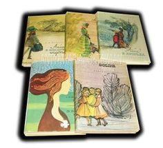 1950s editions (one from 1970s) of Anne in Polish with dust jackets
