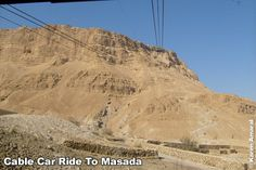 Cable Car Ride To Masada