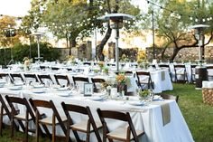 Reception set-up for 140 in October 2013 on Northwest Lawn.  Wedding Planner: The Simplifiers   scottstater.com