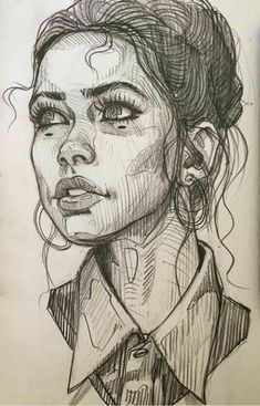 Kunst Konzept Illustration Graphitstift Portrait Zeichnung in 2020 Pencil Portrait Drawing, Portrait Sketches, Pencil Art Drawings, Cool Art Drawings, Portrait Art, Drawing Portraits, Drawings Of Faces, Faces To Draw, Sketches Of Faces