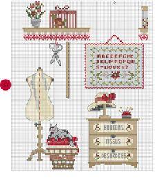 Livre - Mon atelier perles et point de croix - Françoise Luthier-Dieuzaide