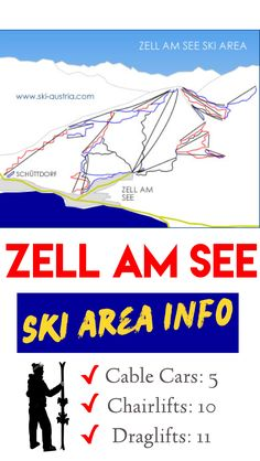 Find out more about the ski slopes above Zell am See - with a photo gallery, snow depths in winter and a webcam to whet your appetite! Austrian Ski Resorts, Ski Austria, Top Hotels, Nightlife, Attraction, Skiing, Cable, Mountain, Snow