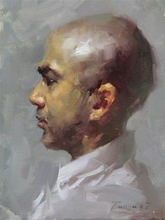 """Head Study - 2013 - 07"" - Original Fine Art for Sale - © Fongwei Liu"