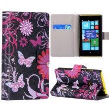 Funda Lumia 520 - Flip Libro Flower 3