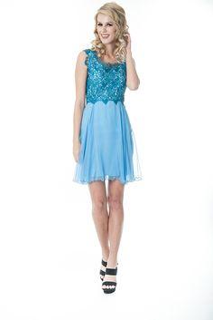 Elizabeth | Abito da cocktail turchese... A turquoise cocktail dress...  Une robe de cocktail turquoise...