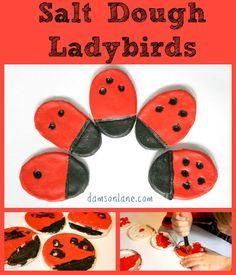 Salt Dough Ladybird Kids Craft on Damson Lane