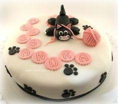 Kitten Cake - Torta con gatto e gomitolo