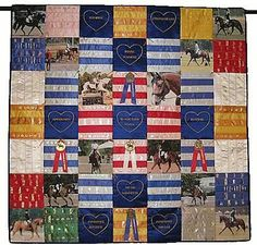 fair ribbon quilt. also pillows and other decorating with ribbons on this page