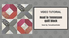Learn to make a Road to Tennessee patchwork block with this video tutorial. This is a very easy and versatile quilt block. You can make many different quilts...