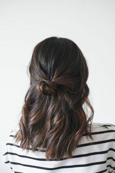 coiffure facile cheveux mi long pour les filles modernes