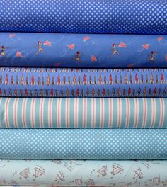 Love this collection of flannels from Michael Miller.  Great colors and paper airplane theme.  CUTE!