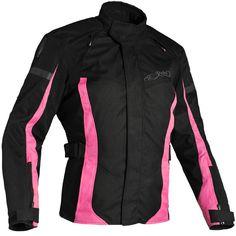 Richa Ladies Biarritz Textile Jacket - Black / Pink - FREE UK DELIVERY