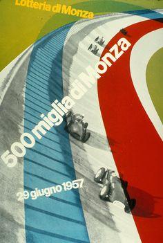 Affiche voor de 500 mijl van Monza, 1957