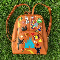 Looking for something no one else has? Check out this Disney hand painted backpack