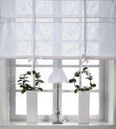 Modern kitchen window treatment how to create modern - Raffgardine weiay ...